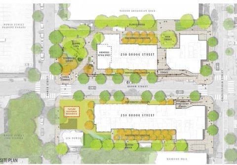 Site plan of new Brook Street residence halls