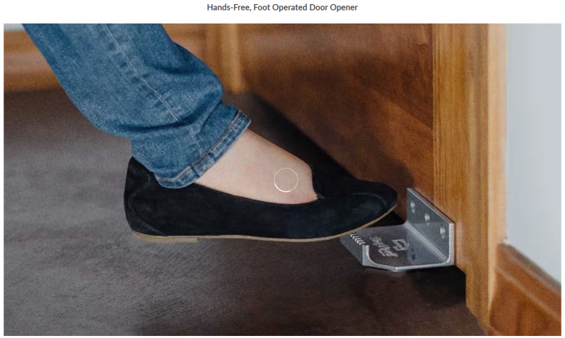 StepNPulll, Hands-Free, Foot Operated Door Opener