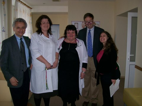 Brown researchers meet with clinicians at a TB hospital in Ukraine