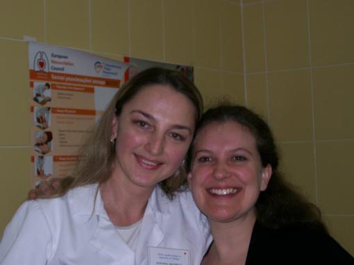 Dr. Ludmila Berojna and Dr. Natasha Rybak in L'viv AIDS Center