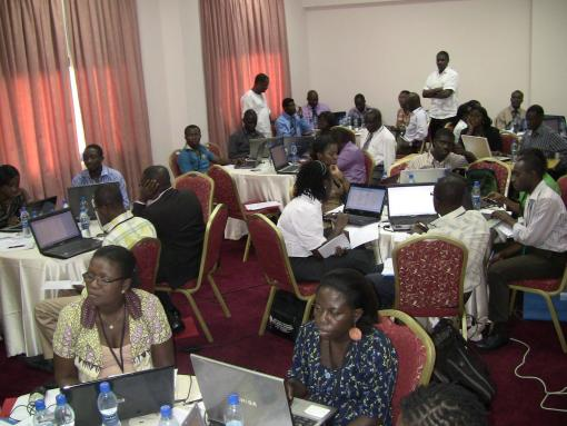 "Faculty Development Workshop (Accra, Ghana): Forty-three faculty from the Univ. of Ghana participated in the partnership's second faculty development training on the topic of ""Statistics for Qualitative and Quantitative Research"", facilitated by Dr. Richard Adanu in November, 2011.."