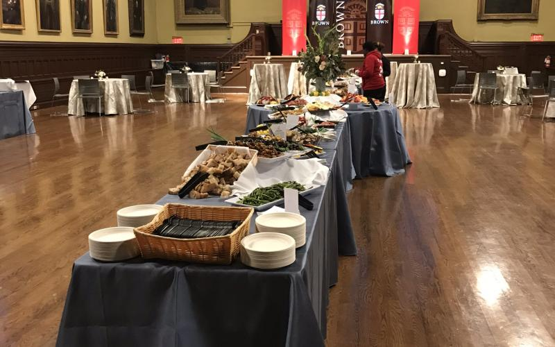 Midyear Completion Reception  in Sayles Hall