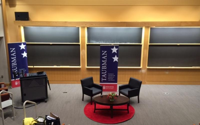 Friedman Auditorium Conversation Style Set Up