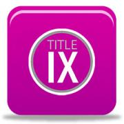 Button that navigates to the Title IX website