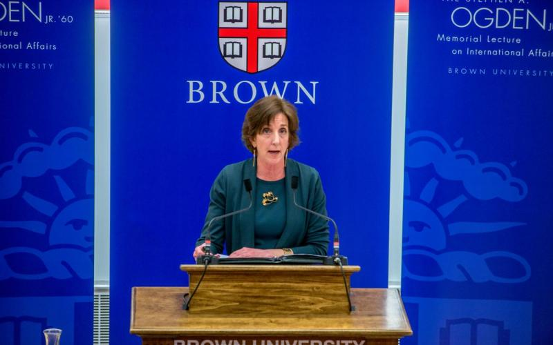 Roberta S. Jacobson presents the Ogden Lecture at Brown