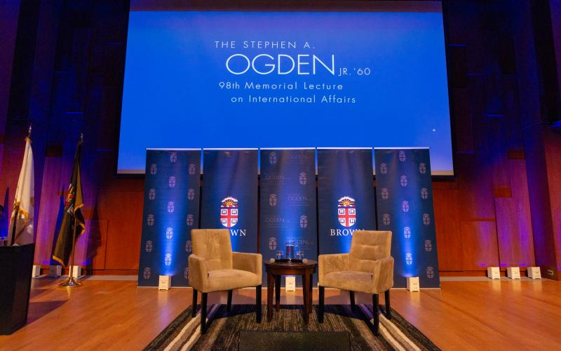 Ogden Lecture stage