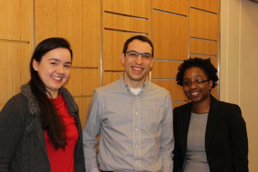 Abigail, Nick, and Charlene at the Biology Prize reception