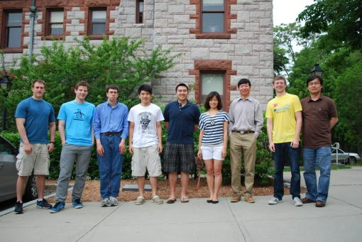 Group photo 2012 (left to right): Mike Morse, Alex Loosley, Daniel Milstein, Nelson Leung, Ryan Handoku, Jingjing Wang, Jay Tang, Angus McMullen, Guanglai Li