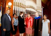 Dignitaries at first induction ceremony