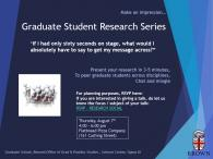 Graduate Student Research Series Event Poster