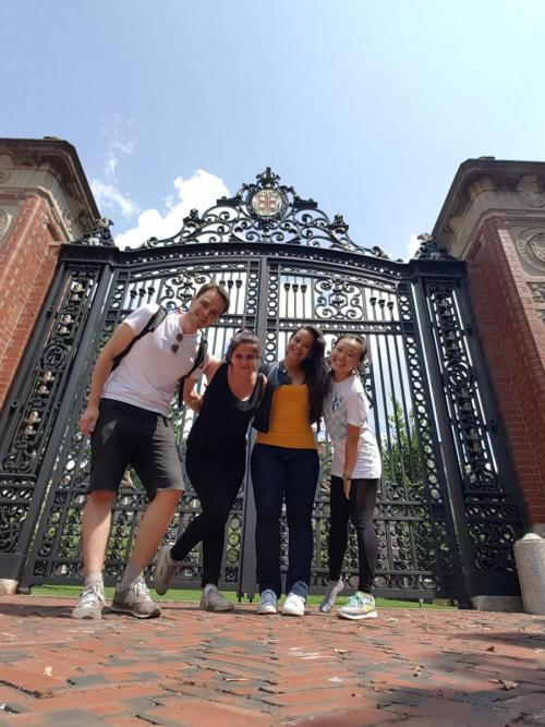 International students in front of the Van Winkle Gates