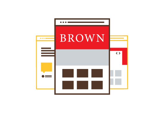 Websites at Brown Icon