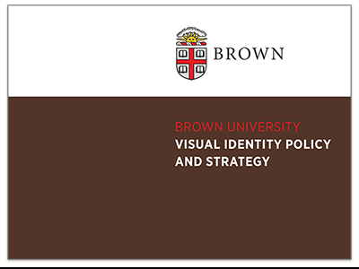 Visual Identity Policy and Strategy Document Cover