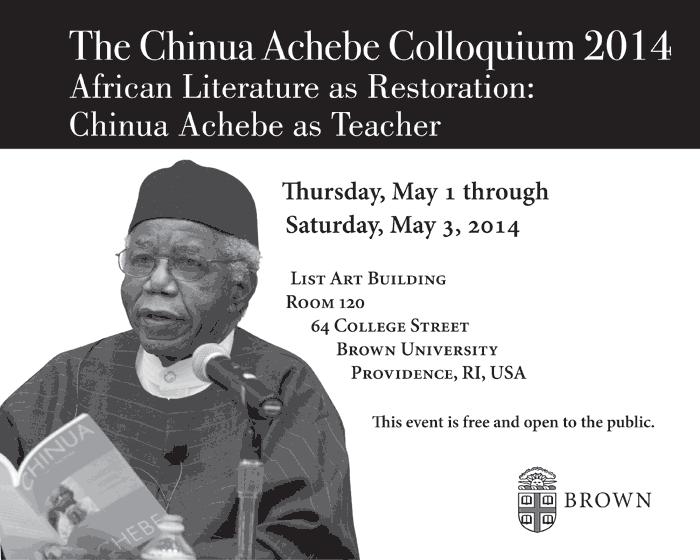 the chinua achebe colloquium 2014 achebe colloquium